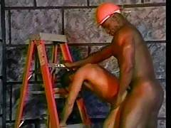 We believe that safety comes first so we never let Bobby Blake take off his hard hat while he is drilling some hot ass. He knows that it is a tough job and delivers it like a pro when he started banging his co-workers hole and bends him over the lad