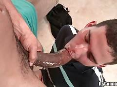 White Fellow Enjoys The Taste Of Insane Black Dick 1