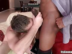 White Fellow Tastes Insane Black Cock 1