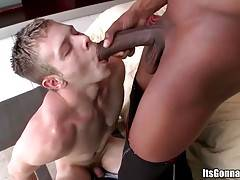 White Fellow Tastes Insane Black Cock 4